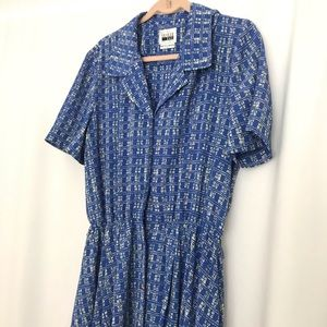 Size 16 vintage midi dress